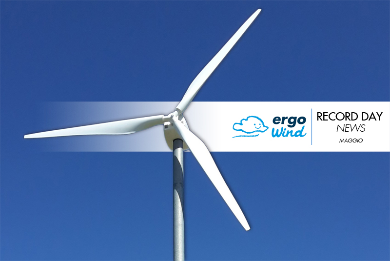 I dati di maggio del mini eolico Ergo Wind: curiosità, numeri, statistiche
