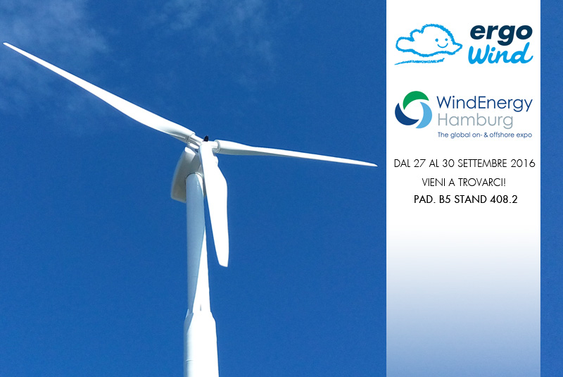 Ergo Wind sarà presente alla WindEnergy Hamburg Exhibition
