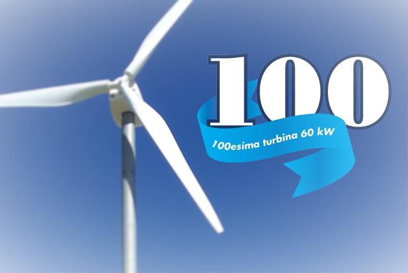 Prodotta la 100esima turbina da 60 kW!
